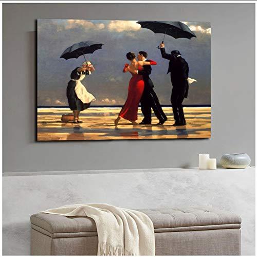 A&D Jack Vettriano PorträtmalereiGedruckt Leinwand Poster Und Druck Wandbilder Kunstwerk Wohnkultur Cuadros für Wohnzimmer-50x75 cm Kein Rahmen