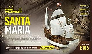 Mamoli MM02 - Santa Maria - Pre-Carved Wooden Hull Ship Model Kit - Scale 1/106 Length 310mm (12