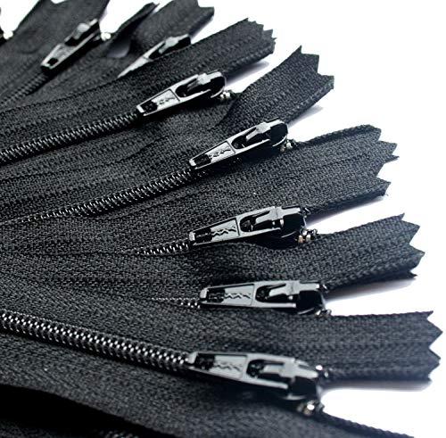 "100 YKK Black #3 Skirt and Dress Zipper (5"" Inches)"