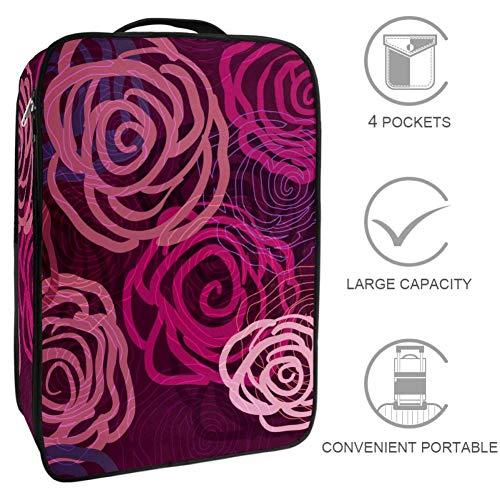 TIZORAX - Bolsa de almacenamiento para zapatos, multifuncional, portátil, textura vectorial, color lila