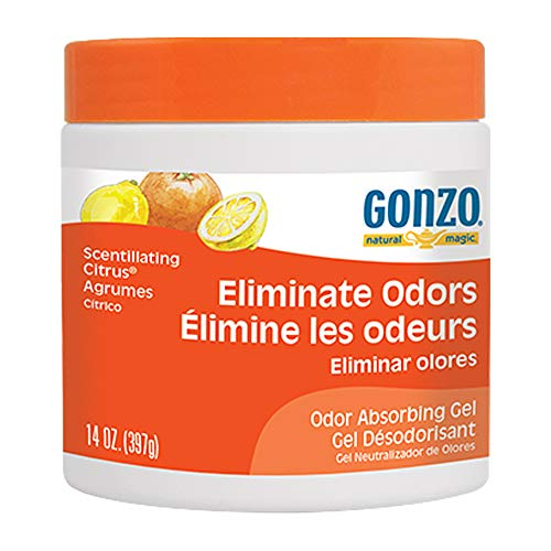Gonzo Natural Magic Natural Magic Air Purifying Gel, Odor Eliminator for Cars, Closets, Bathrooms and Pet Areas, Captures and Eliminates Odors 14 Ounce - Citric Scent