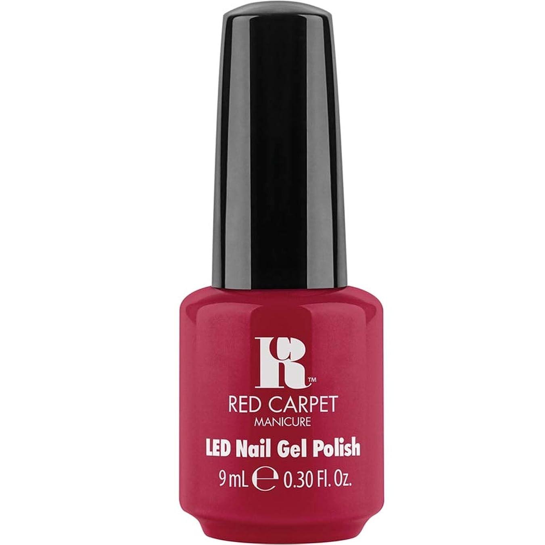 ナチュラ不完全な自発的Red Carpet Manicure - LED Nail Gel Polish - Sealed with a Kiss - 0.3oz / 9ml