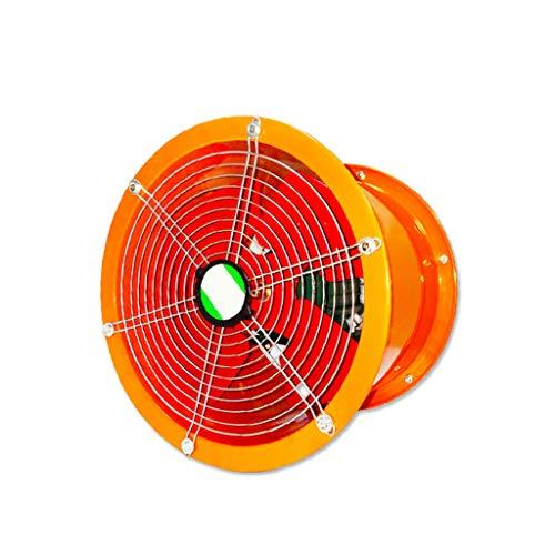 QIQIDEDIAN Ventilador Extractor Ventilador Ventilador Cilindro Industrial de Alta Velocidad Lámpara de Cocina Máquina de Humo Potente Ventilador de Flujo axial 8 Pulgadas