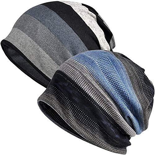 XJIUER hat Bonnet lâche Bonnet lâche Chapeau de crâne de Coton Chapeau d'été d'hiver