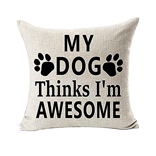 ☀ Dergo ☀ Pillow cover, Best Dog Lover Gifts Cotton Linen Throw Pillow Case Cushion Cover