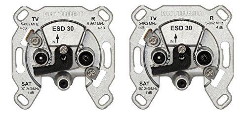 Kathrein ESD 30 Antennen-Steckdose 3-fach (TV, Radio, Sat, Einzelanschlussdose) (2 Stück)