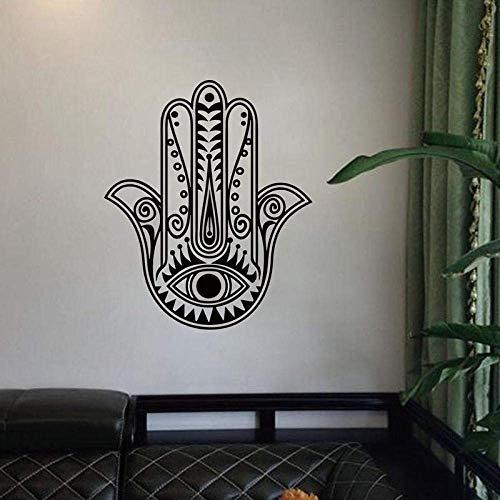 Amuleto De Mano De Fátima, Pegatina De Pared De Paz Y Salud, Pegatina De Vinilo Para Sala De Estar, Papel Tapiz Musulmán Islámico Desmontable, Mural-57X68Cm