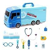 BeebeeRun Camión de Juguete 21 Piezas Coche de Rescate con Diversos Equipos médicos, Camiones de...