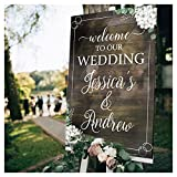 Rustic Wedding Sign – Custom Wooden Wedding Welcome Sign - Rustic Wedding Reception Poster - Wedding Signs For Ceremony