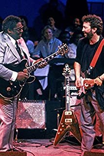Eric Clapton B.B. King On Stage with Guitars Cool Image 18x24 Poster