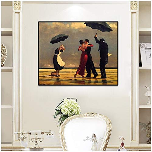 Geiqianjiumai Nordic Tango Dance Square poster en afdrukken Europa kunst op canvas Home Decoration Big Frameless Painting