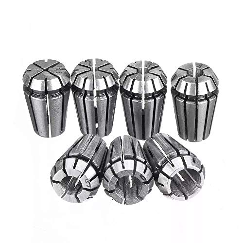 XUSHEN-HU Herramientas 1-7mm ER11 Spring Chuck Collet Set 7pcs para CNC Fresado Torno Grabado Máquina Torno Accesorios Taladro