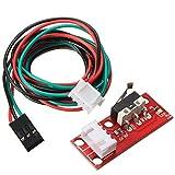 UEETEK Interruptor de fin de carrera mecánico de 5 pcs con cables para impresora 3D