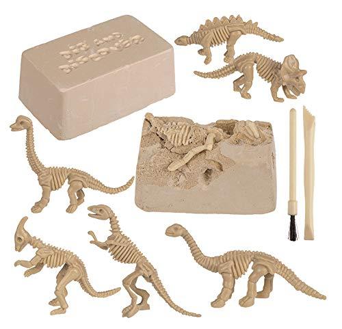 MIK Funshopping Spielzeug Ausgrabungsset, Geschenk, Pädagogisches Spielzeug für Jungen Mädchen (Dinosaurier)
