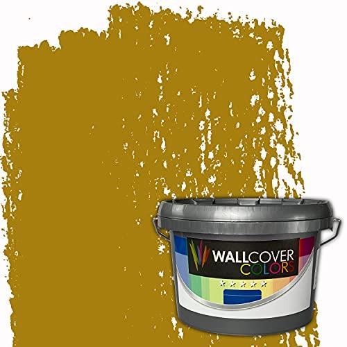 WALLCOVER Colors RAL-Farben Gelb RAL 1027 2.5L für Innen Innenfarbe Currygelb Matt | Profi Innenwandfarbe in Premium Qualität | weitere Größen erhältlich