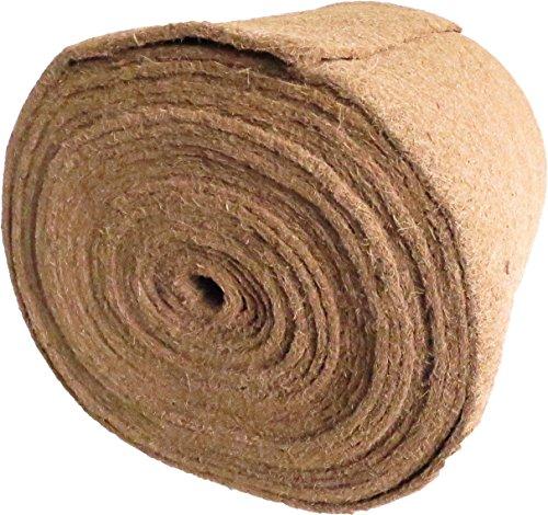 Tapis en Coco 100% Coco, 0,5 m de Large, 20 m de Long, env. 7 mm d'épaisseur (EUR 7,45/m²), Tapis pour la Culture de cresson et de pousses (microgreens), 100% biodégradable, Micro verdures