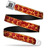 Buckle-Down Unisex-Adult's Seatbelt Belt Pizza Regular, Pepperoni Crust Vivid, 1.5' Wide-24-38 Inches