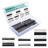 GeeekPi 2 x 20 40 Pines apilables Hembra Header Kit para Raspberry Pi 4B/3B+/3B/2B/B+/A+/Zero (Zero W)/Jetson Nano/Tinker Board (7 especificaciones) (13 Piezas en Total)