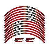 Etiqueta engomada de la Rueda FIT TMAX TMAX500 TMAX530 500 530 15 '' 12 x Bordo Spesso Esterno Rim Sticker Pegatinas de Rueda de Banda (Color : Red)