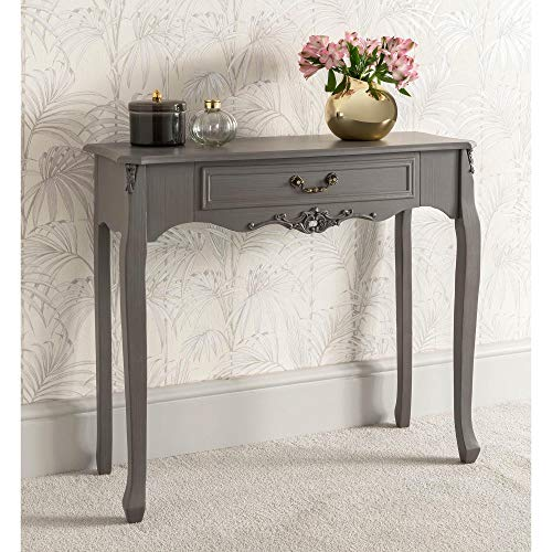 homesdirect365 Etienne 1 Drawer Antique French Style Console Table