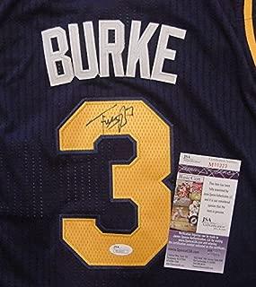 Trey Burke Utah Jazz Autographed Blue #3 Jersey Size 48 JSA COA