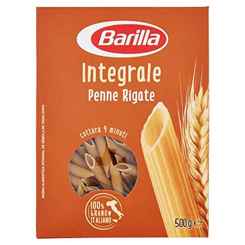 Barilla Pasta Penne Rigate Integrali, Pasta Corta di Semola Integrale di Grano Duro - 500 g