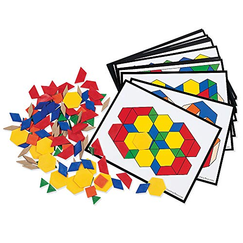 Learning Resources Pattern Block Activity Pack, Geometric Shapes, 142 Pieces, Ages 6+