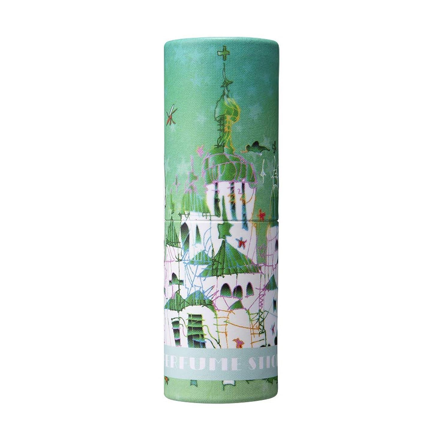 アクティブモーターあごひげパフュームスティック サンクス グリーンアップル&ムスクの香り 世界遺産デザイン 5g