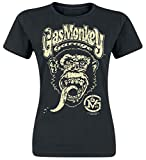 Gas Monkey Garage Logo Camiseta Negro S