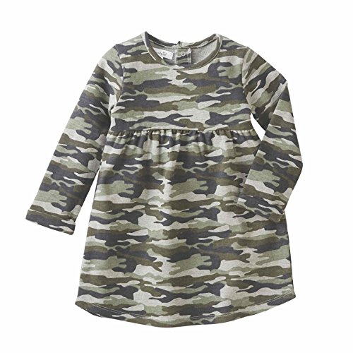Mud Pie Girls Long Sleeves Camo Dress,Multi,12-18 Months