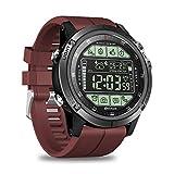 Space element Herren Smart Watch, 50M wasserdicht Bluetooth Activity Tracker Schrittzähler 2 Jahre Lange Standby Bluetooth Smartwatch 5ATM Fitness Tracker für iOS Android,Red