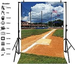Leyiyi 3x5ft Photography Background Grunge Baseball Field Backdrop American Flag National Training Ground School Team Teenage Competition Graduation Photo Portrait Vinyl Video Studio Prop