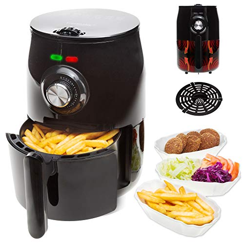 Germatic - Freidora de aire caliente (sin aceite, 1000 W, 500 g)