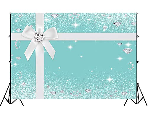 Diamond Background, Bowknot Co Blue Tufted Photography Backdrop, 10x7ft Party Decoration Banner, Photo Video Studio Props LSGE1215