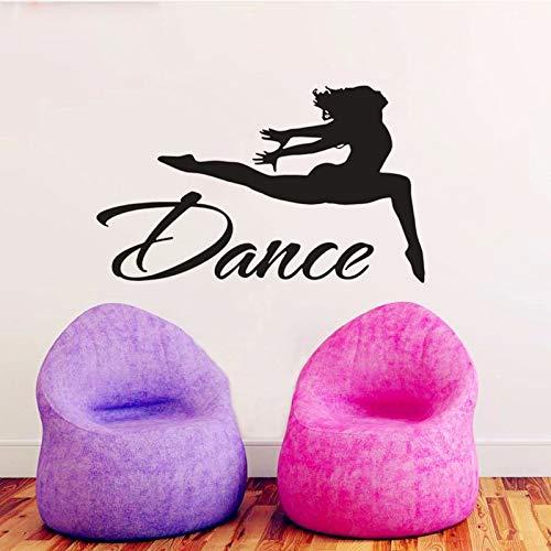 Yaonuli dansstickers voor meisjes, sportdecoratie, ballerina-muursticker, vinyl, dans