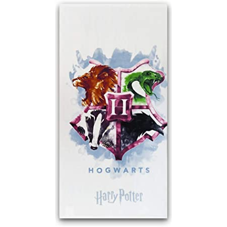 New Toalla Playa o baño Harry Potter, Nuevo diseño Hogwarts, 70X140cm, Producto Oficial Harry Potter