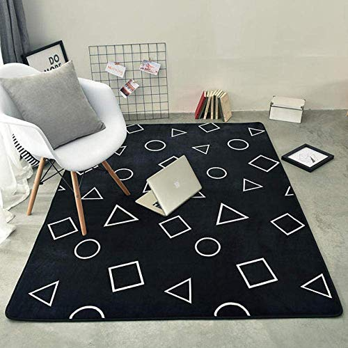 QFF tapijt slaapkamer woonkamer nachtkastje salontafel bank antislip mat rechthoekige tapijten thuis decoratie QFF 95×95cm
