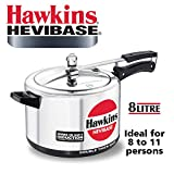 Hawkins Hevibase 8-Litre Induction Pressure Cooker, Small, Silver
