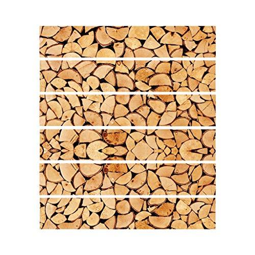 Njuyd - Lote de 6 adhesivos adhesivos para suelo de baldosas, para decoración de baño, cocina, resistente al agua
