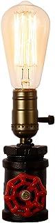 Injuicy - Soporte industrial vintage de metal para lámparas de mesa, lámparas antiguas, lámparas de noche, lámparas de oficina, dormitorio, taller, etc., con conmutador