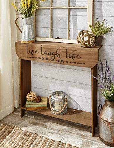 The Lakeside Collection Farmhouse Sentiment Console Table - Live Laugh Love