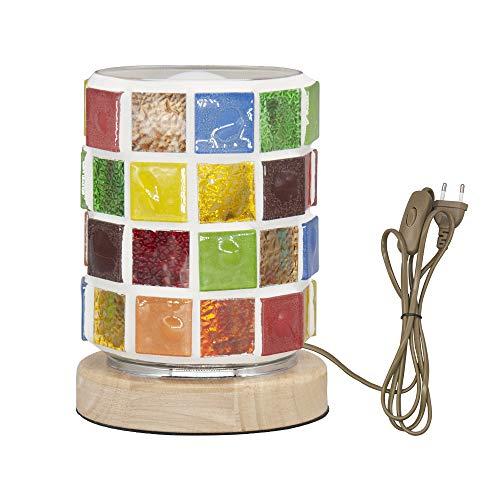 Lámpara de cabecera de vidrio mosaico para el estudio del dormitorio Lectura en el hogar Luces de noche de estilo Tiffany hechas a mano Enchufe de la UE E27 Luz de escritorio LED Luz blanca incluida
