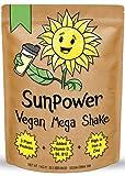 SunPower Vegan Protein Powder Shake (1kg) - No SOYA - with Added Vegan Vitamins, Minerals, Botanicals & Plant Based Protein Powders - Pea Protein, Gluten Free, Dairy Free (Chocolate, 1kg)