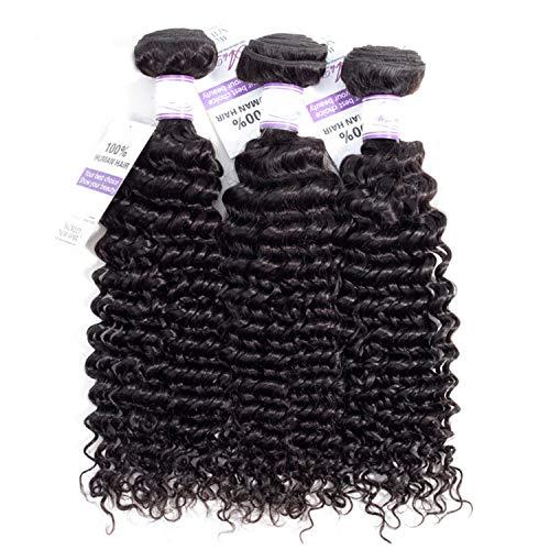 Pelucas de cabello natural La armadura brasileña del pelo de la onda profunda empaqueta el pelo 100% humano que teje el pelo natural del color no Remy puede comprar 3 PC extensiones de cabello natural