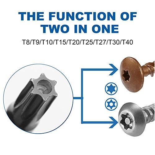 RONMAR 13-Piece Magnetic Torx Screwdrivers Set, Security Tamper Proof, T4、T5、T6、T7、T8、T9、T10、T15、T20、T25、T27、T30、T40