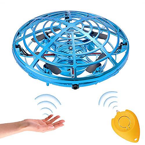 GOLDGE Mini-UFO Drohne für Kinder und Erwachsene, wiederaufladbar, Mini-Drohne mit Bewegung und Bewegung gesteuert, um 360 ° drehbar, Spielzeug, Handsteuerung, interaktiver Hubschrauber