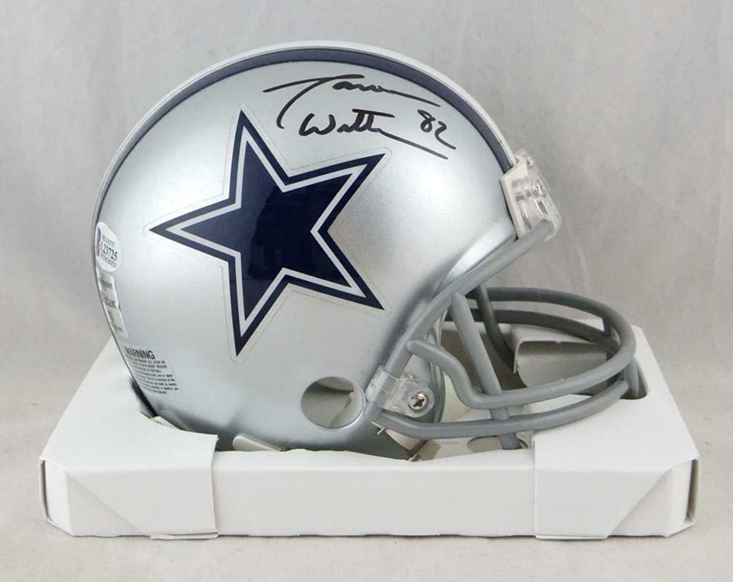 Jason Witten Signed Mini Helmet  Beckett Auth Black  Beckett Authentication  Autographed NFL Mini Helmets