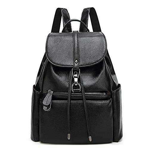 Coofit fashion leather college backpack