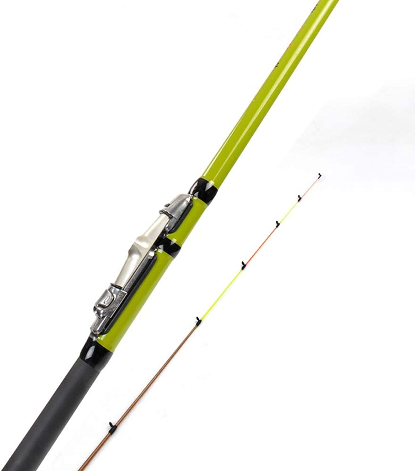 ZA Fishing Rod, FRP Material, Super Hard, not Easy to Break, Non-Slip Comfortable Handle, 2 Knots, Easy to Carry, 4 (Single Rod) (Size   A)