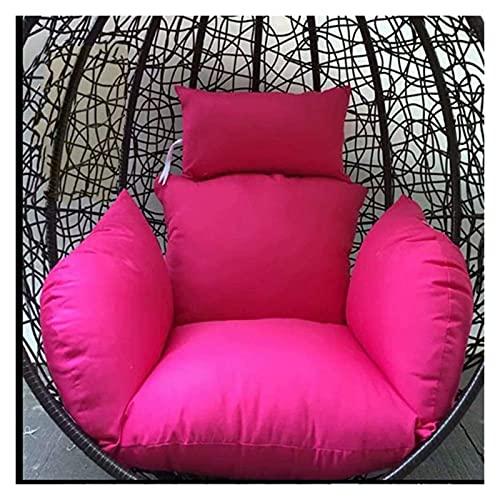 XiYou Mobili da Giardino Cuscini per sedie Cuscino per Sedia a Uovo, Cuscino per Sedia Amaca a Uovo Appeso, Senza Supporto Cuscino per Sedile Altalena in Tinta Unita Nido Spesso con Cuscino Cortile